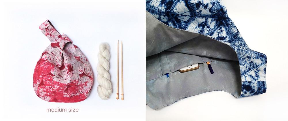 knot bag - medium size & inner pocket