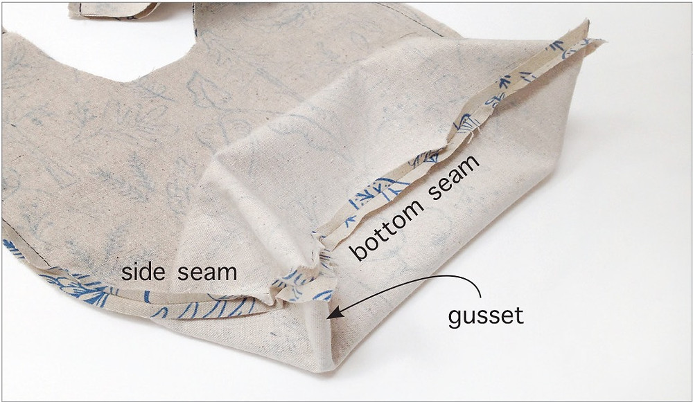 knot bag with gusset 2