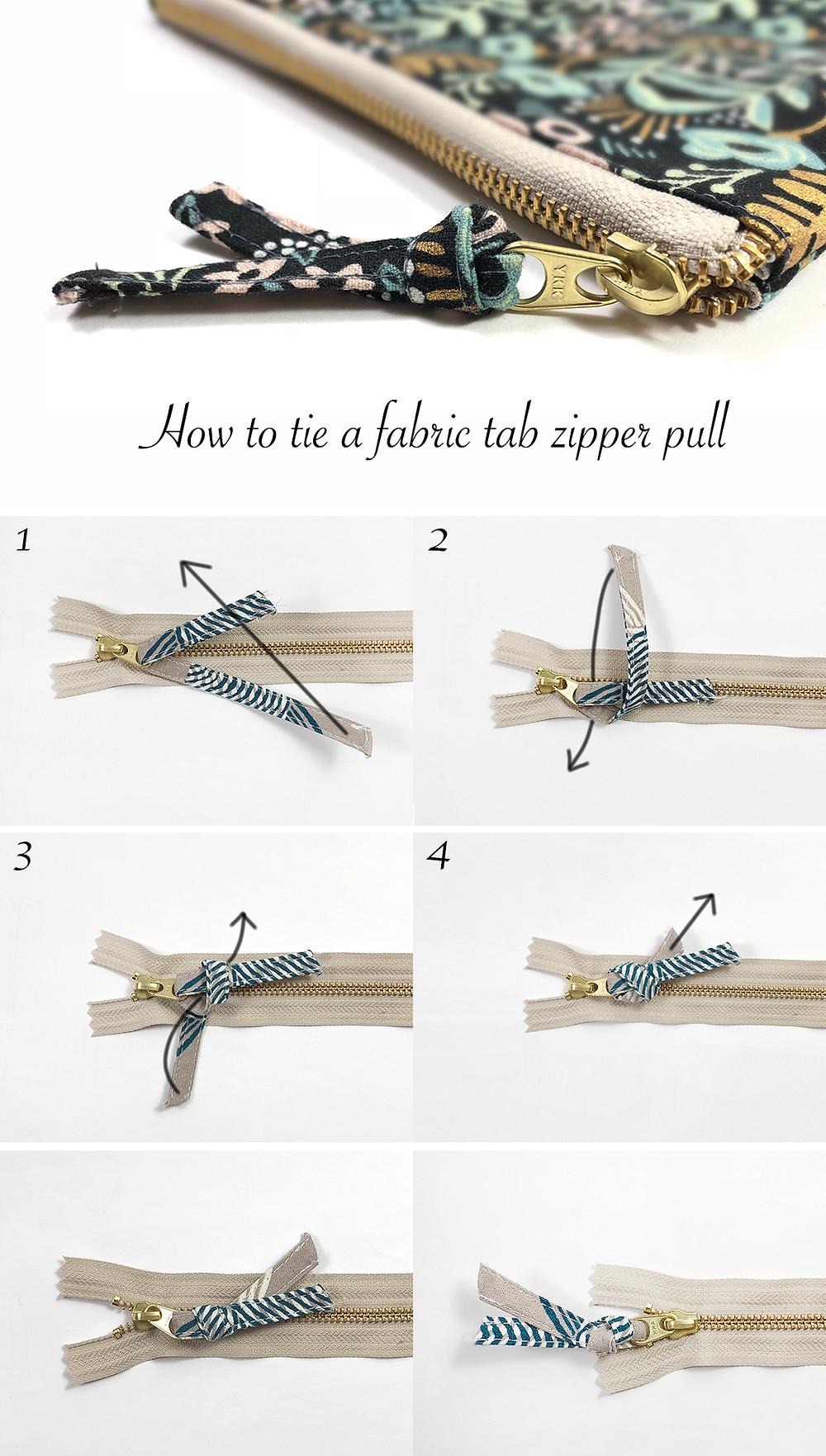 fabric tab zipper pull