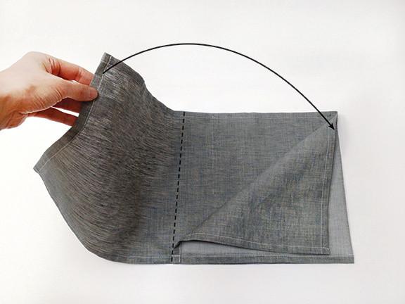 Origami Bento Bag - step 4 / Indigobird Design