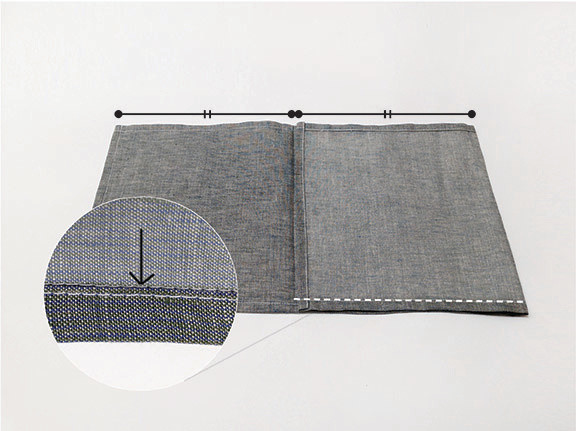 Origami Bento Bag - step 3 / Indigobird Design