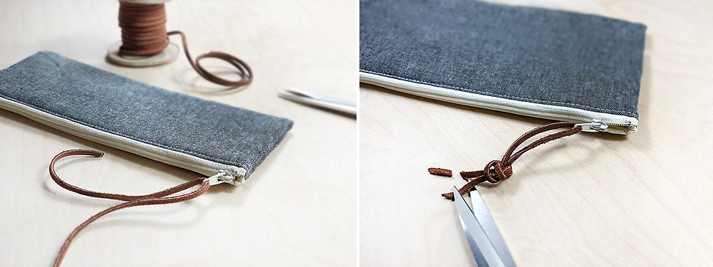 Leather Lace zipper pull _ how to
