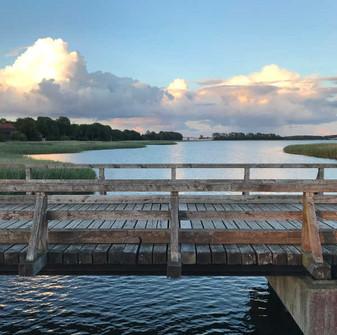 Holzbrücke zwischen Laase und Liddow