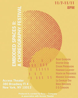 Two weeks left until Embodied Spaces II_