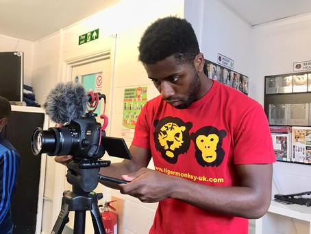 Associate artist Shayne Thomas Gordon films courses across Enfield for the Summer University 2020