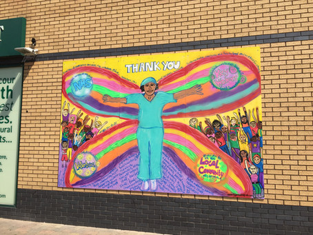 Thank you NHS and Keyworkers Mural for Edmonton Green is up!