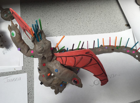 Dragon sculpture takes off!