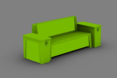 TB VERT bench RAL 6018