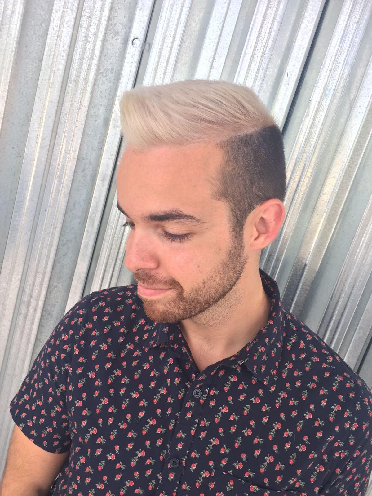 stylish man haircut
