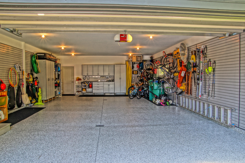 Newly finished garage