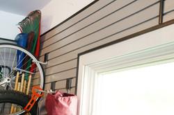 Custom cut slotwall around windows