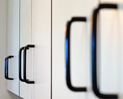 London Grey Garage Cabinets Handles