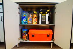 Grey Minnesota Garage Cabinet Space