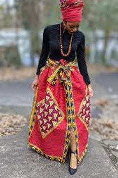 Traditional Wrap Long Skirt
