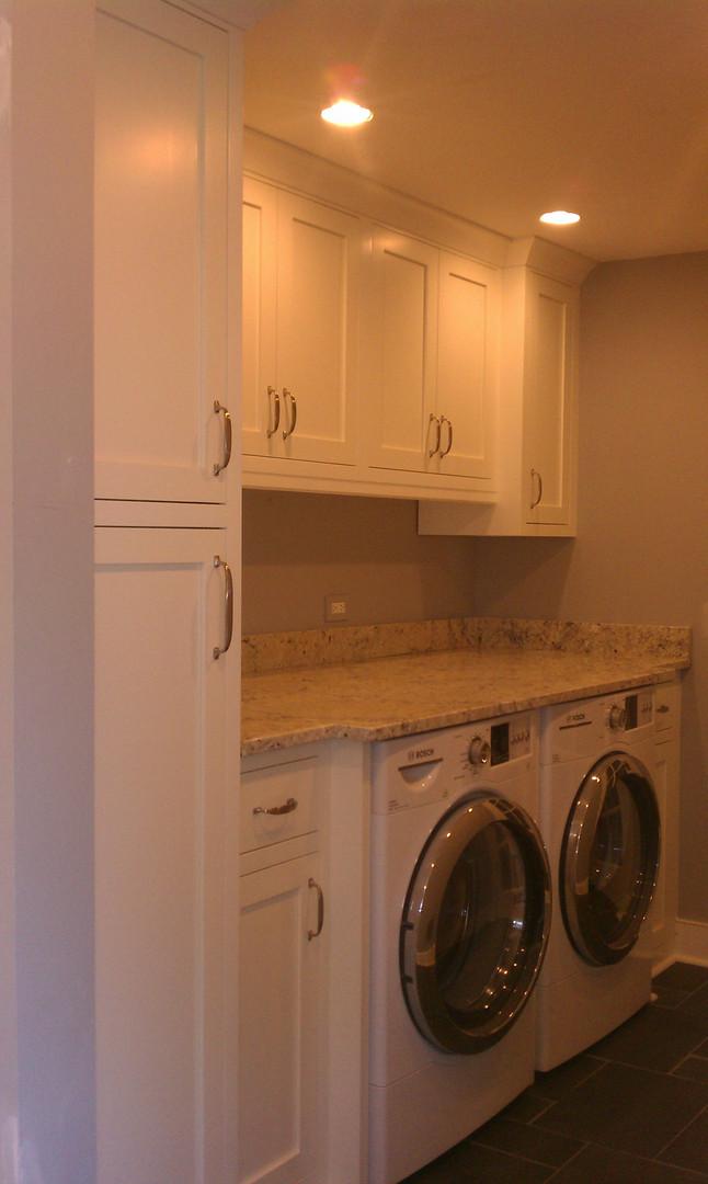 Custom Laundry room Mudroom built-in by Skill-Built