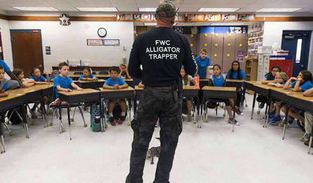 Ray the Trapper school event