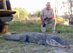 Ray the Trapper with large alligator