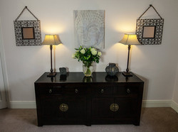 Sideboard with eastern accents