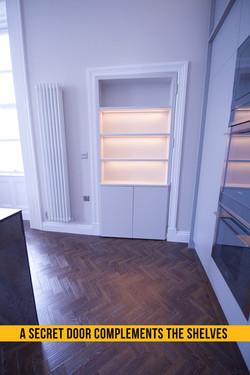 A secret door adds intrigue