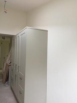 Utility room cupboards go in