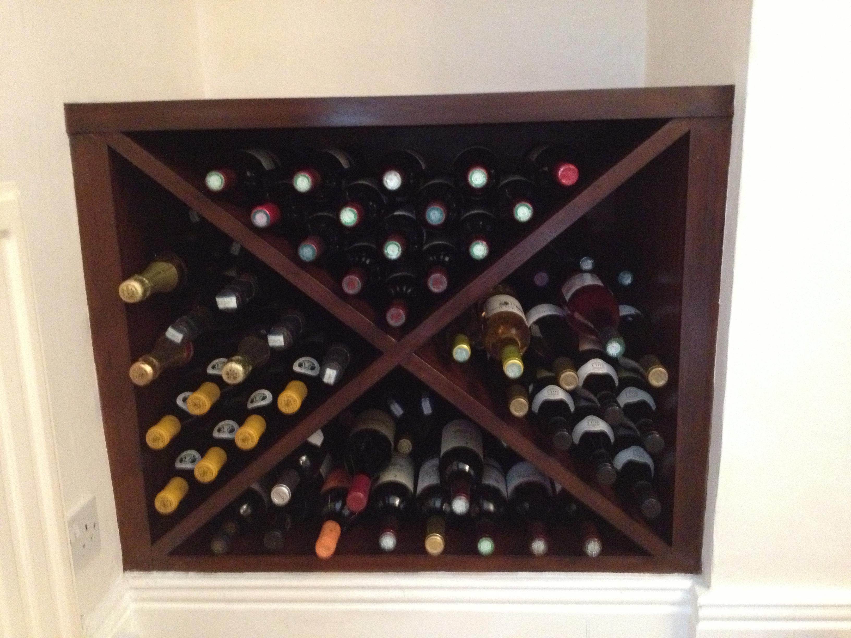 Bespoke wine shelf