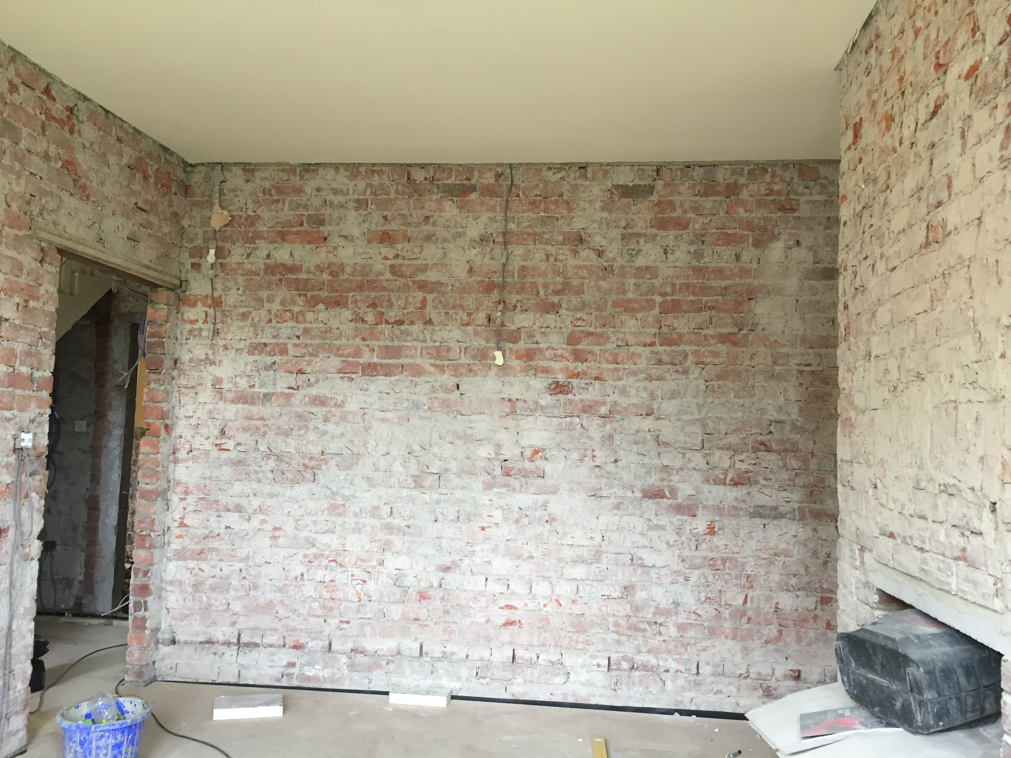 Stripped back to bare brick