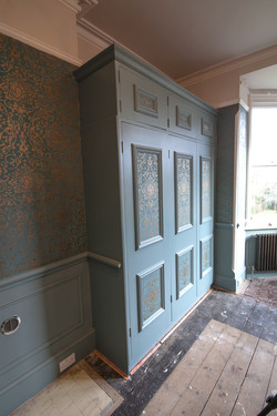 Wardrobe painted and panels filled