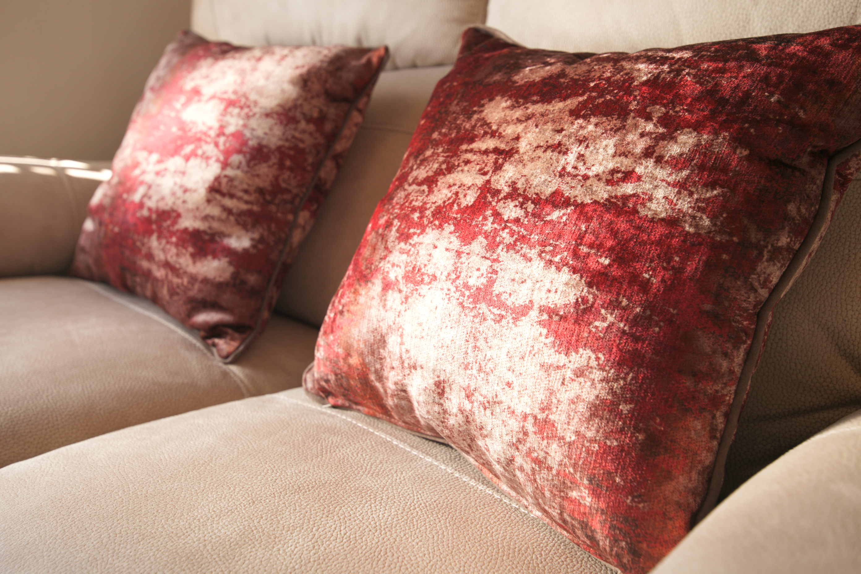 Hand made velvet cushions