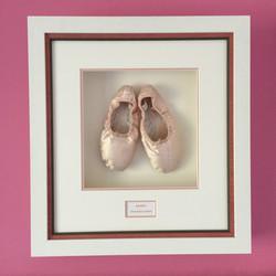 Ballet shoes - framed above the bed