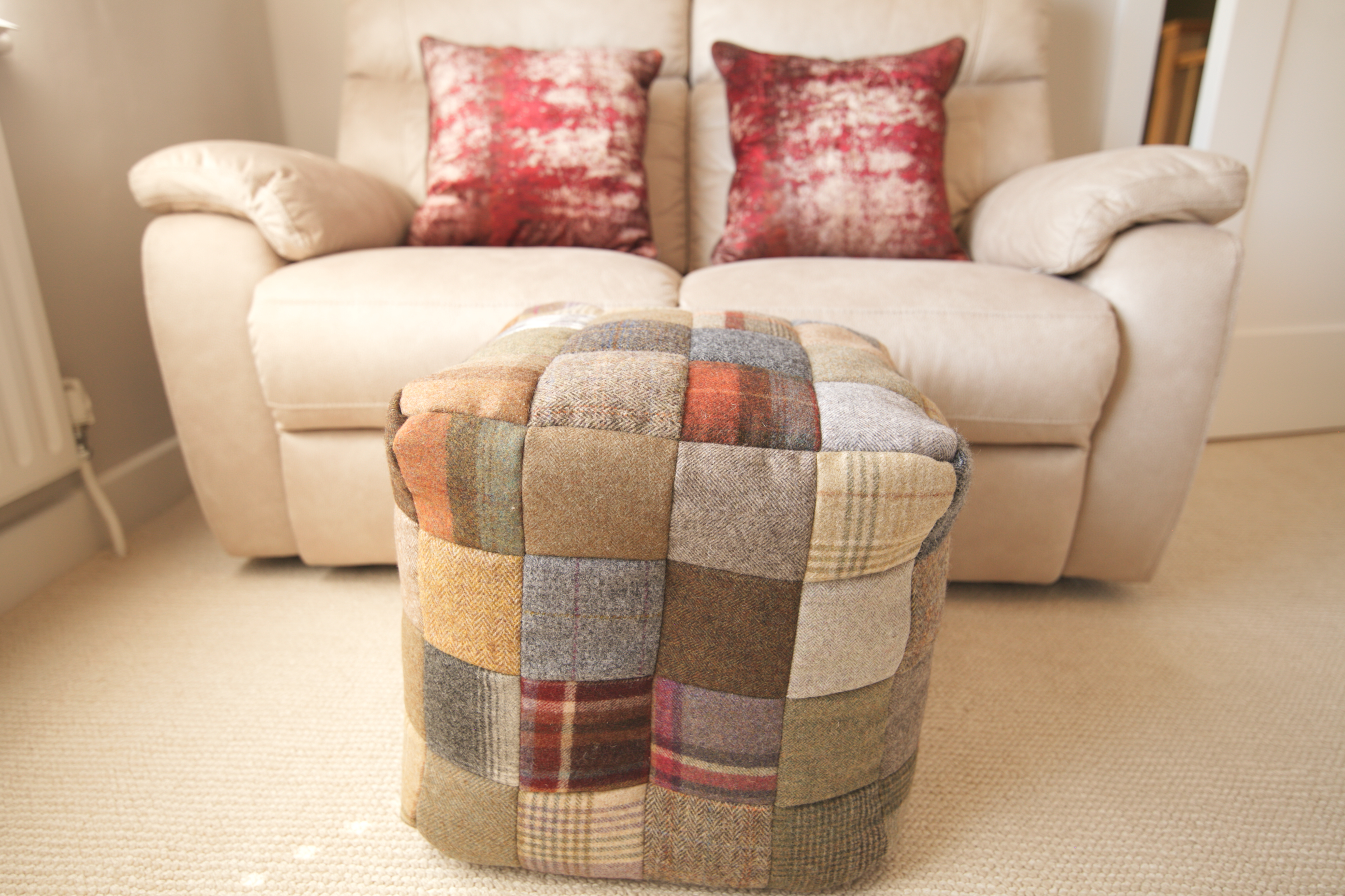Bespoke footstool with B&S recliner