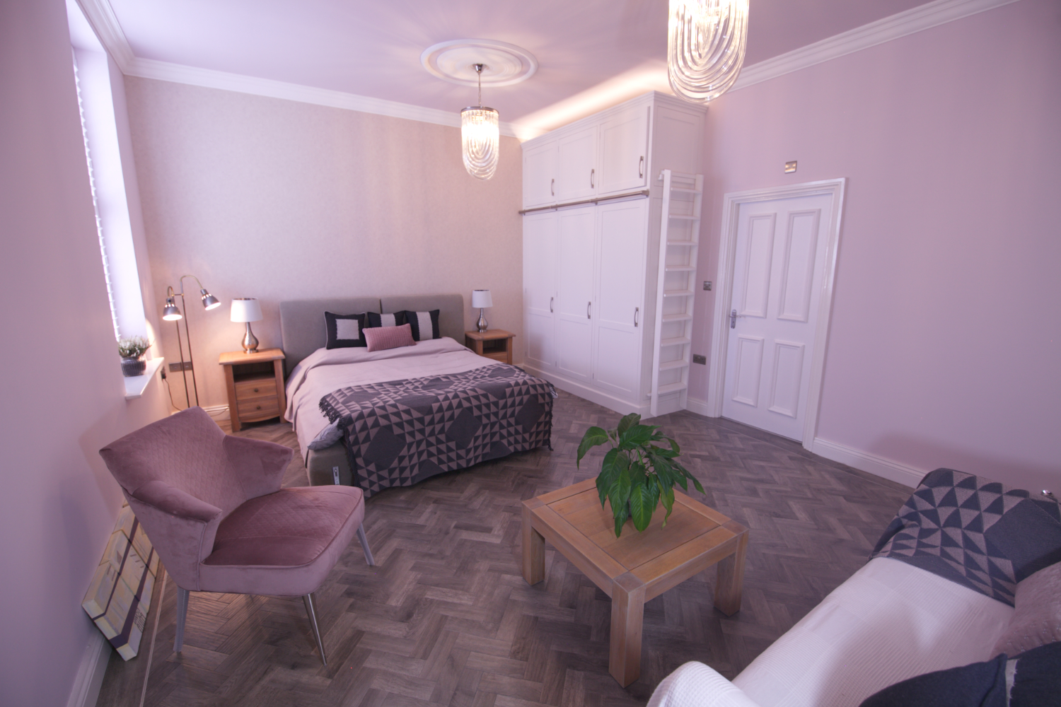 Pretty spare room with parquet floor