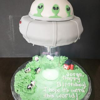 Alien Birthday Cake