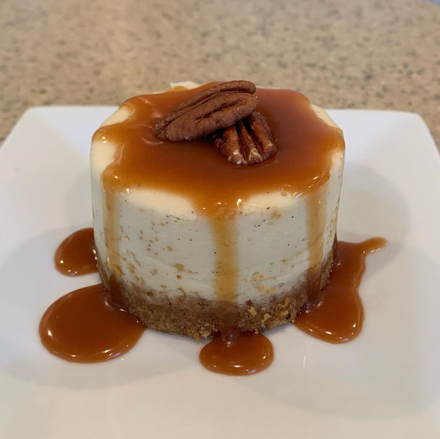 Individual Turtle Cheesecake