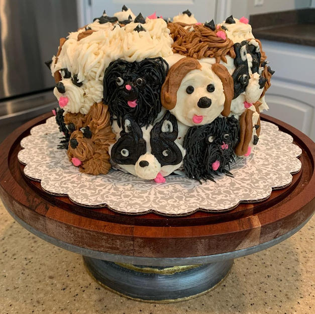Happy Puppy Cake