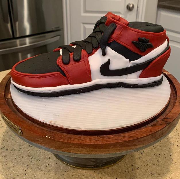 Michael Jordan Shoe Cake