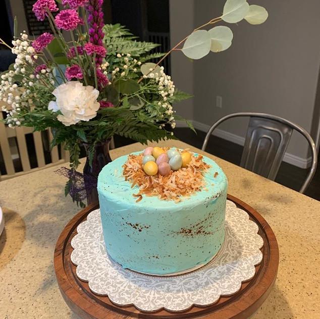 Robin Eggs Cake