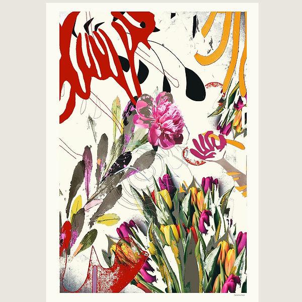 Affiche collage numérique Sandrine Stahl