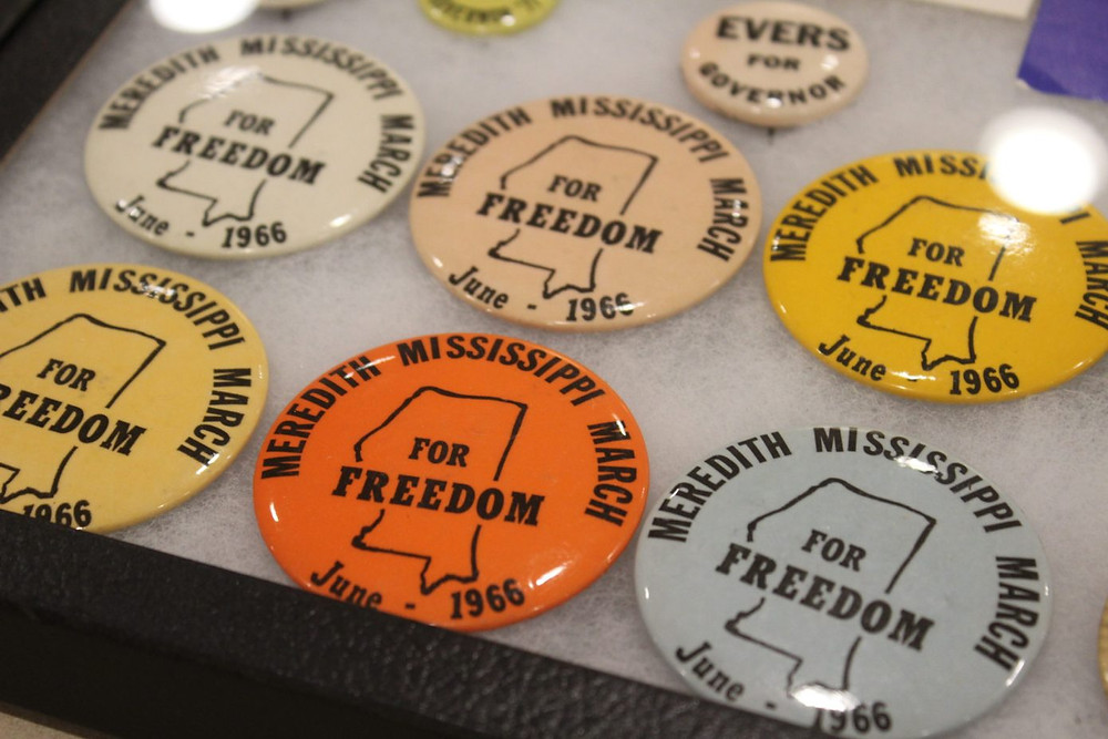 Collection of Meredith Mississippi March for Freedom Buttons