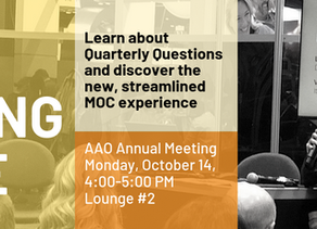 Questions about MOC? Visit the ABO Learning Learning Lounge at AAO 2019