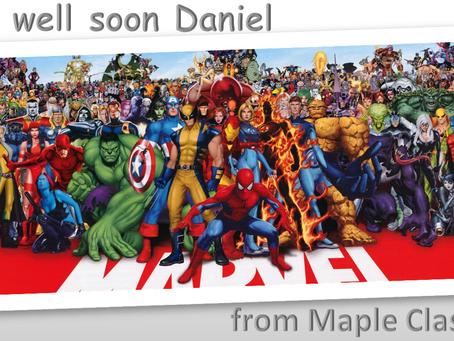Wishing Daniel a speedy recovery!