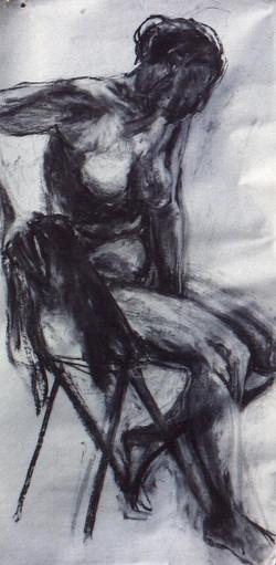 houtskool op papier (0)170x70