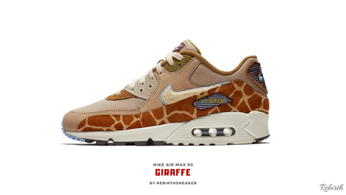 32c2e6031967 The successor of the release Nike air max 1 Giraffe by Rebirth made this  sneaker more unique in his way.Now is the turn for the Nike air max 90