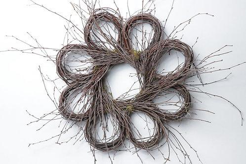 "22"" Birch Baby Loop Wreath"