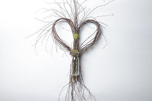 Birch Heart With Vase