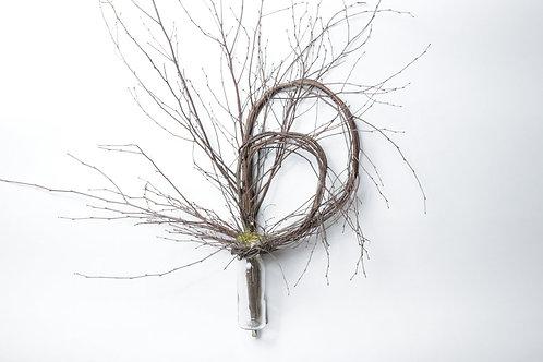 Birch Double Loop With Vase