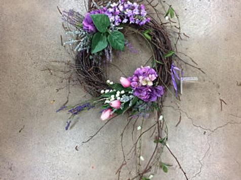 Spring Lilac Wreath