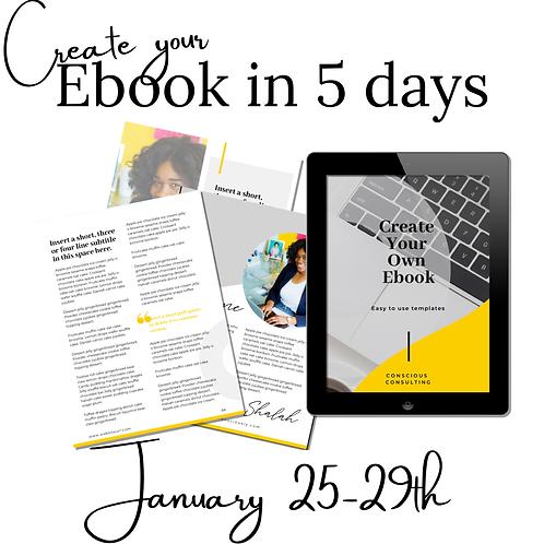 5 day Ebook Coaching (1/25-29)