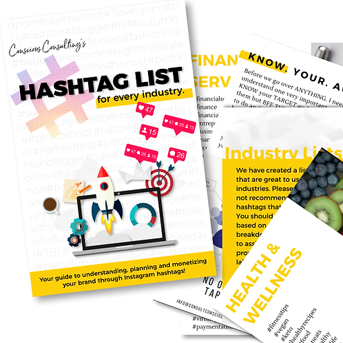 Hashtag List Guide