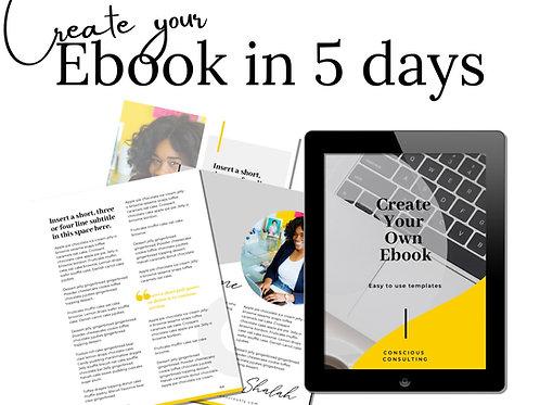 Ebook in 5 days Course (6/28-7/2)