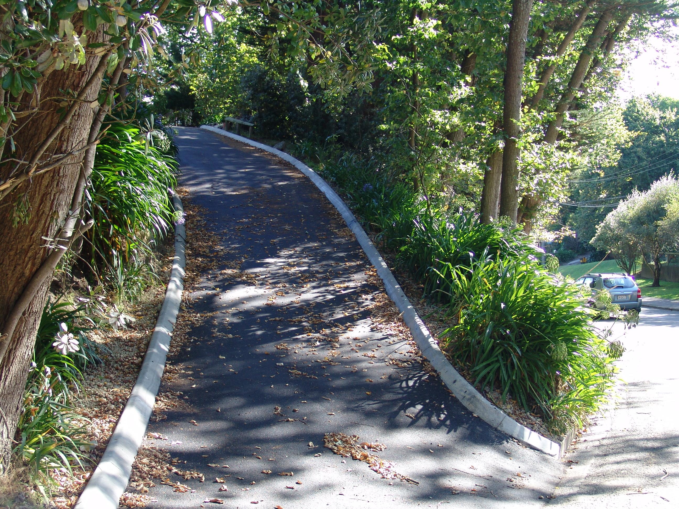 Steep Hotmix Driveway